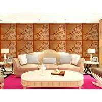 Buy cheap Real Leather 3D Living Room Wallpaper Royal Luxurious Wall Decal PU leather Panels product
