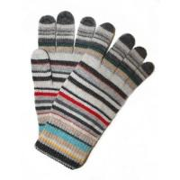 Buy cheap Hand made color strip knitted glove from wholesalers
