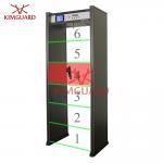 Buy cheap Digital Walk Through Metal Detector Security Doors, Exhibition Metal Detector Security Gate from wholesalers