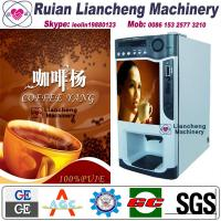 Buy cheap coffee hot chocolate vending mac Bimetallicraw material 3/1 microcomputer Automatic Drip coin operated instant from wholesalers