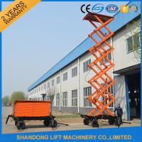 Buy cheap High Raising 4 Wheel Aerial Work Platform ,  CE 18m Hydraulic Electric Mobile Scissor Tables from wholesalers