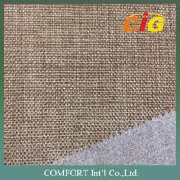 Buy cheap 160cm Home Textile Fabric , 100% Polyester Woven Imitating Linen Sofa Fabric from wholesalers