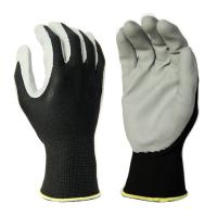 Buy cheap N2001 13G Black Polyester Liner, with Grey Foam Nitrile Palm Coating, Breathable from wholesalers