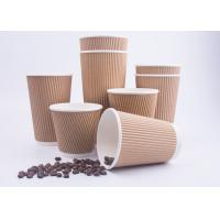 Disposable Throw Away Coffee Cups Triple Wall With 4 Color Process Printing