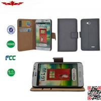 Buy cheap 100% Qualify Brand New PU Book Flip Leather Wallet Case Cover For LG L70 from wholesalers