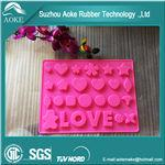 Buy cheap Ice Cube Tray Silicone Candy Mold Sweet Chocolate DIY Moulds from wholesalers