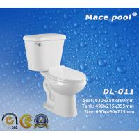 Buy cheap White Sanitary Wares Two Parts Toilets for Bathroom WC (DL-011) from wholesalers