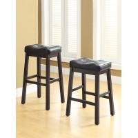 Buy cheap Milano 25H  Black Leather Bar Stools With Bottom StretcherKick Plate from wholesalers