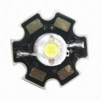 Buy cheap High-power White LED with 1W Star Type and 350mA Current  from wholesalers