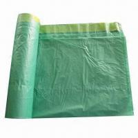 Buy cheap Biodegradable Plastic Garbage Bag and Drawstring with 83 x 95cm, 25mic from wholesalers