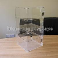 Buy cheap Lockable 4 - Layer Clear Acrylic Display Tower Desktop Waterproof Display Case from wholesalers