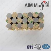 Buy cheap strongest neodymium magnetic disc magnet with adhesive from wholesalers