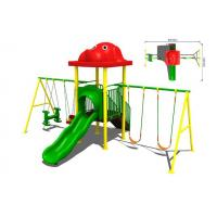 Buy cheap Large Park Commercial Playground Swing Sets Slide Kit with Canopy from wholesalers