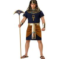 Buy cheap Sexy Costumes Wholesale Spandex Soft Stretchy Dark Blue men Pharaoh Costume with S to XL from wholesalers