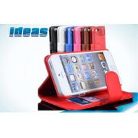 Buy cheap Hybrid Wallet PU Apple iPhone Leather Case Covers for iPhone 5 , Red from wholesalers