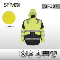 Buy cheap Waterproof softshell jacket EN ISO high visibilty windbreaker jacket mixed color workwear product