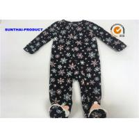 Buy cheap Snowman Applique Baby Girl Pram Suit Cap Snap Tab 100% Micro Fleece Coverall from wholesalers
