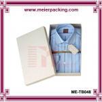 Buy cheap Cardboard shirt packaging box/Custom white paper printed apparel box ME-TB048 from wholesalers