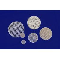 Buy cheap Strong Corrosion Resistance Against Acid And Alkali Honeycomb Ceramic Round Plate from wholesalers