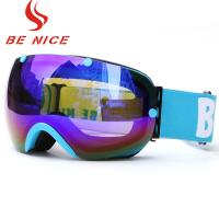 Durable Ski Snowboard Goggles / Cool Snowboard Goggles Protective Safety Skiing Eyewear Glasses