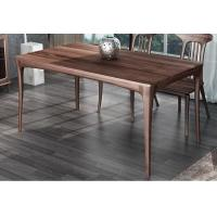 Buy cheap Nordic style Living room Furniture Walnut Wooden Circular Dining table in Special design Legs and Stainless steel plate from wholesalers