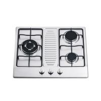 Buy cheap Kitchen Stainless Steel 3 Ring Gas Hob / Gas Cooktop Support NG / LPG 590*510mm from wholesalers