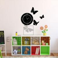 China New arrival 3D wall clock Home decoration DIY mirror wall clocks children's wall art watch on sale