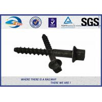 Buy cheap Black ISO Screws For Railway Sleepers / Zinc Dacromet Screw On Spikes from wholesalers