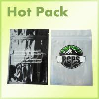 Buy cheap BCPS Eco Friendly Small Aluminium Foil Sachets For Cannabis With Black Printing from wholesalers
