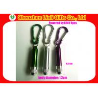 Buy cheap Portable engraved logo carabiner led torch flashlights keychain from Linli LL-HK1004251-5 product