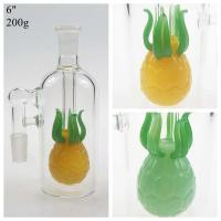 Buy cheap Huaao Glass Factory 6 pineapple shape ash catcher Glass water pipe bong accessories with 14/18 mm joint and glass bowl from wholesalers