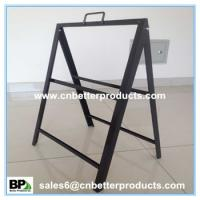 Buy cheap powder coated black Steel Floor stand A frame sign holder from wholesalers