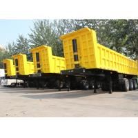 Buy cheap CIMC new 40 50 cubic meter tipper semi trailer dump tipper truck trailer with FUWA axle for sale from wholesalers
