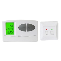 Buy cheap Blue Backlight Radio Frequency Thermostat 230V For Water Heater from wholesalers