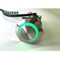Buy cheap Metal Push Button Switch LED Illuminated , Car LED Push Button On Off Switch from wholesalers