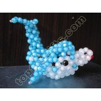 Buy cheap diy acrylic beaded dolphin figurine animal beaded gift decoration from wholesalers