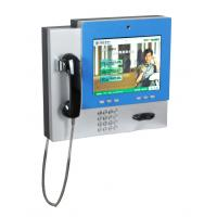Buy cheap Wireless Connective Wall Mounted Kiosk with telephone and webcamera for video call V602 from wholesalers