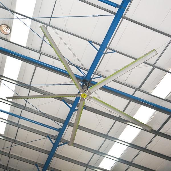Aluminum Fan Blade HVLS Industrial Ceiling Fans Low Power
