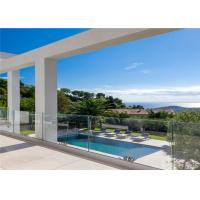 Buy cheap Steel railing designs for balcony and U channel glass railings / glass balustrade from wholesalers