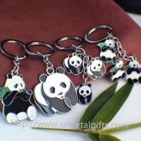 Buy cheap Custom made metal panda drop charms keychain, China painted drop ornaments key chain, from wholesalers