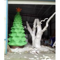 Buy cheap customize size fiberglass green large christmas tree  as decoration statue in garden /shop mall/ supermarket from wholesalers