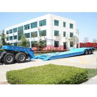 Buy cheap Tri Axle Front Loading Low Bed Semi Trailer Gooseneck Hydraulic Detachable Type from wholesalers