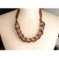 Buy cheap Female Chunky Beaded Handcrafted Necklaces with Big Rhinestone for Autumn from wholesalers