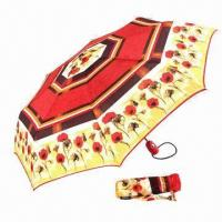 Buy cheap Promotional 2 or 3-fold Umbrella, Available by Manual and Automatic Open product