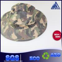Buy cheap Wide Brim Camo Cotton Bucket Hat Woven Label / Sun Protection Available from wholesalers