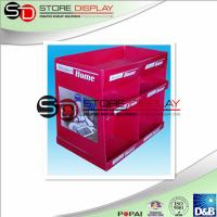 Buy cheap Corrugated Kitchen 2 Tiers Dump Bin Display Red Recycled For Retail / Promotion from wholesalers