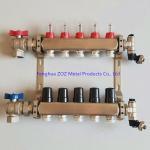Buy cheap Underfloor heating stainless Steel manifolds with flow meters from wholesalers