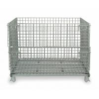 Buy cheap Foldable Wire Mesh Container Q235 50x100 Wire Mesh Pallet Cages from wholesalers