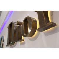 Buy cheap Bronze Reverse Lit Metal Acrylic Channel Letter Sign from wholesalers