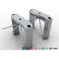 Buy cheap RS485 Access Control Tripod Turnstile Gate , 304 SS Waist Height Turnstile product